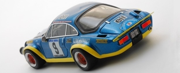 PROVENCE MINIATURES - Kit peint à monter Alpine A110 Turbo 1er Cevennes 1972 Therier - PMK149
